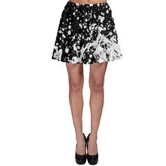 Black And White Splash Texture Skater Skirt
