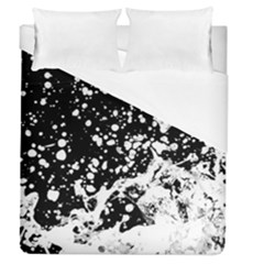 Black And White Splash Texture Duvet Cover (queen Size)