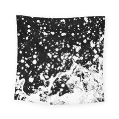Black And White Splash Texture Square Tapestry (small)
