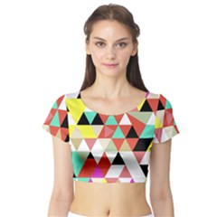 Bonjour Short Sleeve Crop Top (tight Fit)