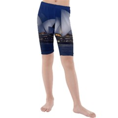 Landmark Sydney Opera House Kids  Mid Length Swim Shorts