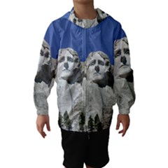 Mount Rushmore Monument Landmark Hooded Wind Breaker (kids)