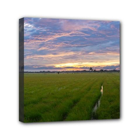 Landscape Sunset Sky Sun Alpha Mini Canvas 6  X 6