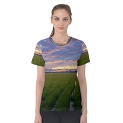 Landscape Sunset Sky Sun Alpha Women s Cotton Tee