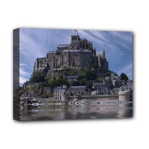 Mont Saint Michel France Normandy Deluxe Canvas 16  X 12