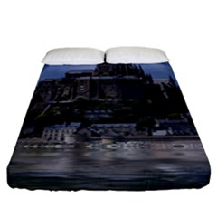 Mont Saint Michel France Normandy Fitted Sheet (king Size)