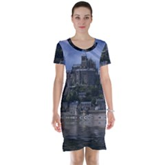 Mont Saint Michel France Normandy Short Sleeve Nightdress