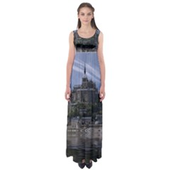 Mont Saint Michel France Normandy Empire Waist Maxi Dress