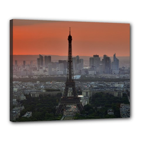 Paris France French Eiffel Tower Canvas 20  X 16