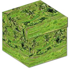 Greenery Paddy Fields Rice Crops Storage Stool 12