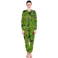 Greenery Paddy Fields Rice Crops Onepiece Jumpsuit (ladies)