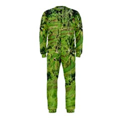 Greenery Paddy Fields Rice Crops Onepiece Jumpsuit (kids)