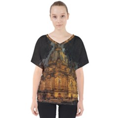 Dresden Frauenkirche Church Saxony V Neck Dolman Drape Top