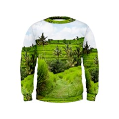 Bali Rice Terraces Landscape Rice Kids  Sweatshirt