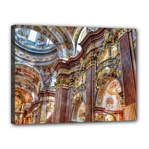 Baroque Church Collegiate Church Canvas 16  X 12