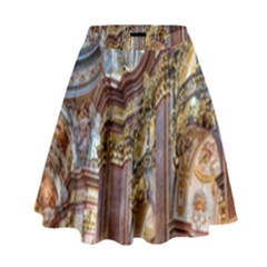 Baroque Church Collegiate Church High Waist Skirt