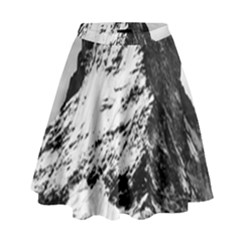 Matterhorn Switzerland Mountain High Waist Skirt