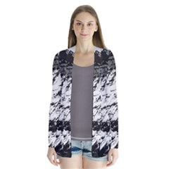 Matterhorn Switzerland Mountain Drape Collar Cardigan