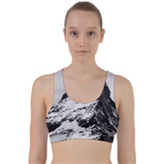 Matterhorn Switzerland Mountain Back Weave Sports Bra