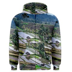 Rice Terrace Rice Fields Men s Zipper Hoodie