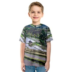 Rice Terrace Rice Fields Kids  Sport Mesh Tee