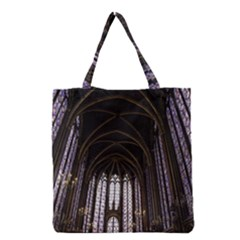 Sainte Chapelle Paris Stained Glass Grocery Tote Bag