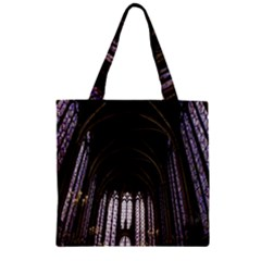 Sainte Chapelle Paris Stained Glass Zipper Grocery Tote Bag
