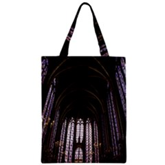 Sainte Chapelle Paris Stained Glass Zipper Classic Tote Bag