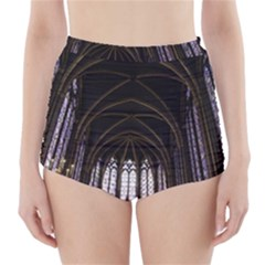 Sainte Chapelle Paris Stained Glass High Waisted Bikini Bottoms