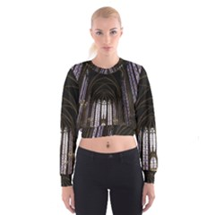 Sainte Chapelle Paris Stained Glass Cropped Sweatshirt