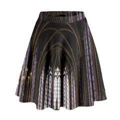 Sainte Chapelle Paris Stained Glass High Waist Skirt