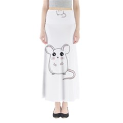 Cute Mouse Full Length Maxi Skirt
