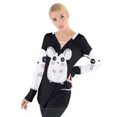 Cute Mouse Tie Up Tee