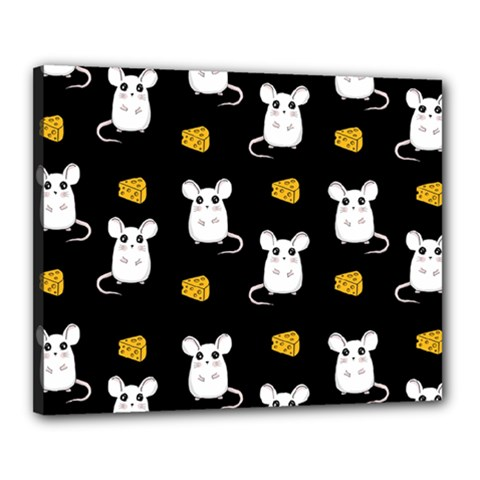 Cute Mouse Pattern Canvas 20  X 16