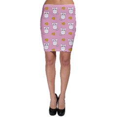 Cute Mouse Pattern Bodycon Skirt
