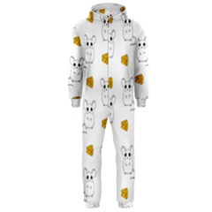 Cute Mouse Pattern Hooded Jumpsuit (men)