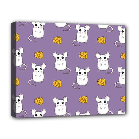 Cute Mouse Pattern Deluxe Canvas 20  X 16