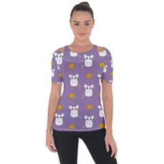 Cute Mouse Pattern Short Sleeve Top