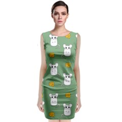 Cute Mouse Pattern Classic Sleeveless Midi Dress