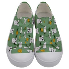 Cute Mouse Pattern Kids  Low Top Canvas Sneakers