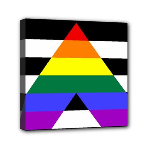 Straight Ally Flag Mini Canvas 6  X 6