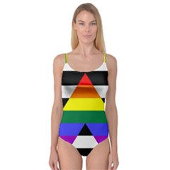 Straight Ally Flag Camisole Leotard