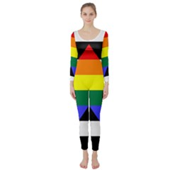 Straight Ally Flag Long Sleeve Catsuit