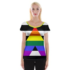Straight Ally Flag Cap Sleeve Tops