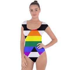 Straight Ally Flag Short Sleeve Leotard