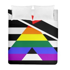 Straight Ally Flag Duvet Cover Double Side (full/ Double Size)