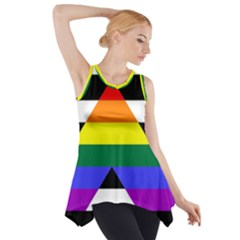 Straight Ally Flag Side Drop Tank Tunic