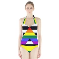 Straight Ally Flag Halter Swimsuit