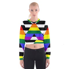 Straight Ally Flag Cropped Sweatshirt