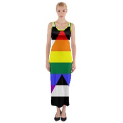 Straight Ally Flag Fitted Maxi Dress
